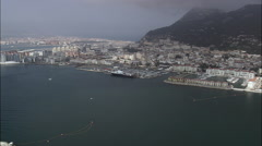 Gibralter Harbour, Ships And Wreck Stock Footage
