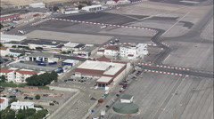 Gibralter Airport And Border Stock Footage