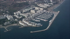 High Over Puerto Banus Stock Footage