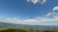 Paraglider activity fly in mountains Stock Footage