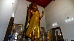 Phra Buddha Lokanat in Wat Pho temple, Bangkok Stock Footage