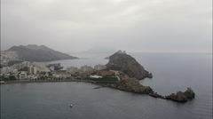Rain Sweeps In Over Aguilas Stock Footage