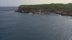 Coast Around Portinatx Stock Footage