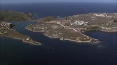 La Mola aerial Stock Footage