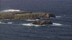 Coastline And Punta Grossa Stock Footage