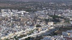 Ciutadella aerial Stock Footage