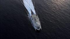Hydrofoil On Way To Ibiza Stock Footage