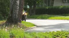 JURMALA, LATVIA  Bicycle Race. A group of cyclists Stock Footage