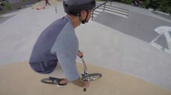 Extreme BMX Bicycle Riding Stock Footage