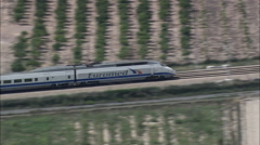 Express Train At Speed Stock Footage