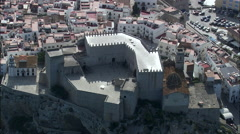 Peniscola Castle Stock Footage