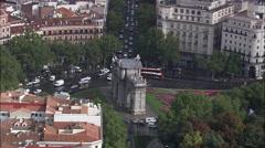 Madrid aerial Stock Footage