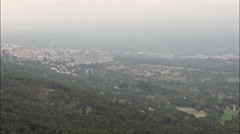 The Escorial Palace In Misty Weather Stock Footage