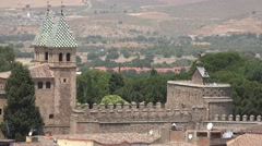 Spanish Castle Walls And Medieval Architecture Stock Footage