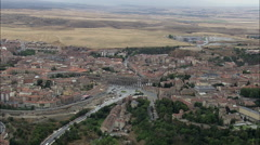 Aquaduct Of Segovia Stock Footage