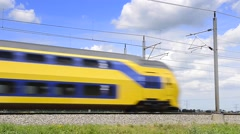 Dutch NS intercity train passing Stock Footage