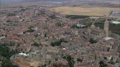 Segovia aerial Stock Footage