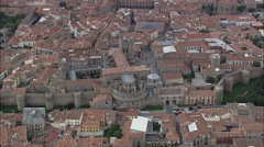 Avila Cathedral Stock Footage