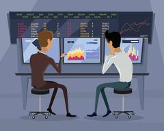 Modern Online Trading Technology Illustration - stock illustration