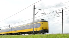 Dutch NS intercity train with horn Stock Footage