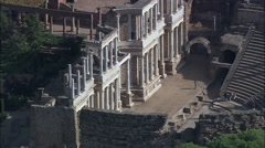 Roman Theatre Stock Footage