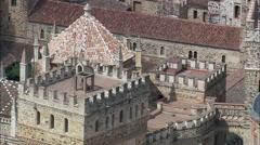 Hospederia Del Real Monasterio South Side Stock Footage