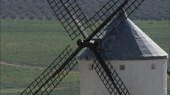 Windmills At Consuegra Stock Footage