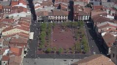 Medina Del Campo Main Square Stock Footage