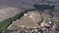 Berlanga De Duero Castle Stock Footage