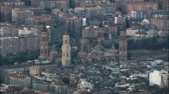Zaragoza aerial Stock Footage