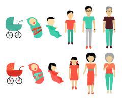 Human Growing Up Concept Illustration Stock Illustration