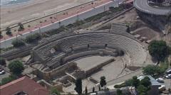 Tarragona Roman Amphitheatre Stock Footage