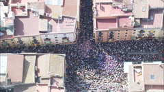 A Castell Or Human Tower At The Start Stock Footage