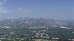 The Massif Of Montserrat Stock Footage