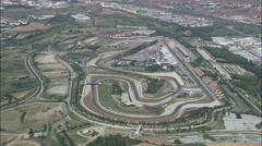 Catalunya Motor Racing Circuit Stock Footage