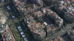 Looking Down On Barcelona Stock Footage