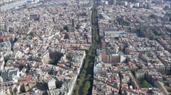 Barcelona aerial Stock Footage