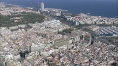 Barcelona In Wide Shots Stock Footage