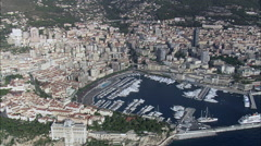 Wide Shots Of Monaco Stock Footage