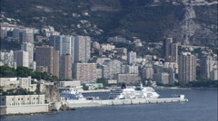 Monaco aerial Stock Footage