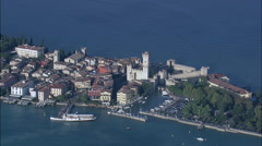 Sirmione Castle Stock Footage