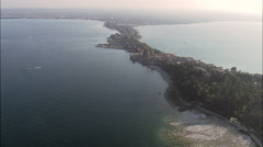 Sirmione aerial Stock Footage