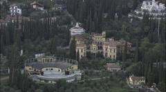 Villa Vittoriale Stock Footage