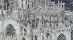 Milan Cathedral Stock Footage