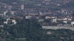 Bergamo aerial Stock Footage