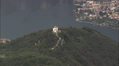 Lake Iseo Islands Stock Footage