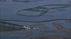 Flooded Farm Land Outskirts Of Venice Stock Footage
