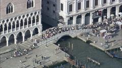 People Around Ponte Della Paglia Stock Footage