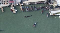 Venetian Gondola Boats Stock Footage
