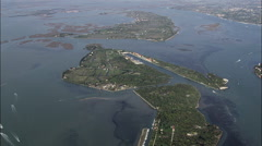 Islands Surrounding Venice Stock Footage